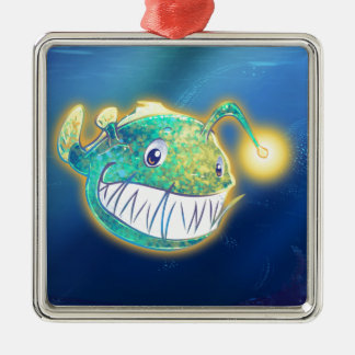Cute Angler Fish Metal Ornament
