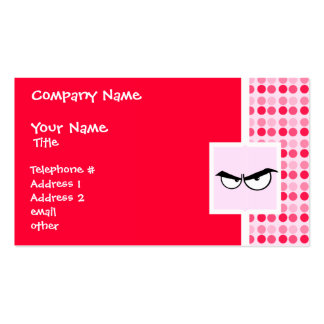 Cute Angry Eyes Double-Sided Standard Business Cards (Pack Of 100)