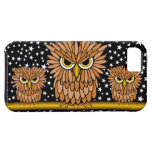 cute angry hungry owls iPhone 5 case