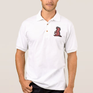 Cute & Angry Red Dinosaur Polo Shirts