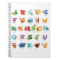 Cute Animal Alphabet Letters Notebook