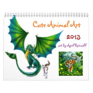 Cute Animal Art Calendar 2013