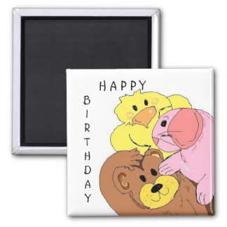Cute Animal Birthday Wishes Magnet