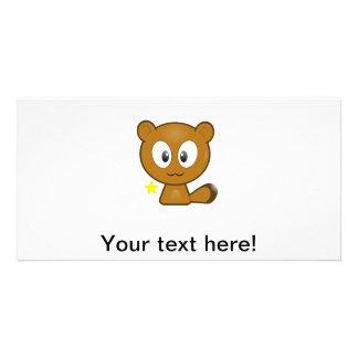 Cute animal cartoon picture card