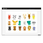 Cute animal group decals for laptops