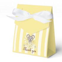 Cute Animal Neutral Baby Shower / Birthday Yellow Favor Box