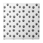 Cute animal paw prints design ceramic tiles