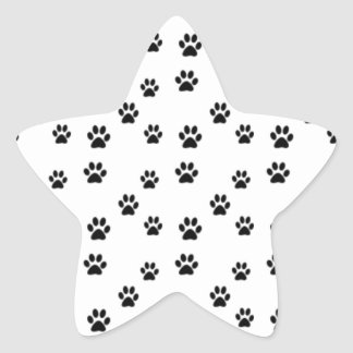 Cute animal paw prints design star sticker