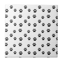 Cute animal paw prints design tile