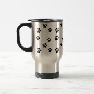 Cute animal paw prints design travel mug