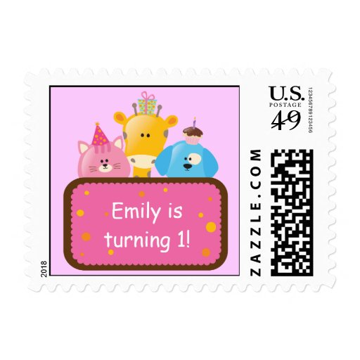 Cute Animal Personalized Birthday Postage
