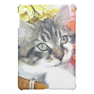Cute Animal Playing, Nature Kitten, Fall Flowers iPad Mini Cases