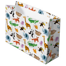 Cute Animal Print Large Gift Bag
