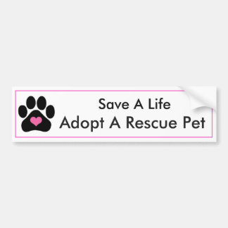 Cute Animal Rescue Bumper Sticker