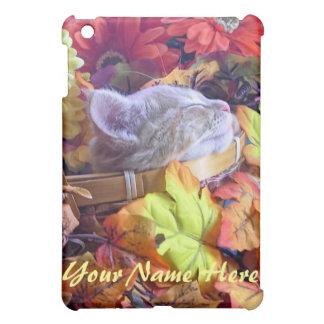Cute Animal Sleeping, Nature Kitten, Fall Flowers Cover For The iPad Mini