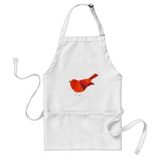 Cute Animal Wildlife  Red Bird Apron