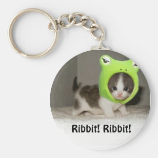 ¡cute-animals-1, Ribbit! ¡Ribbit! Llavero Redondo Tipo Pin