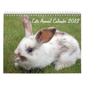 cute animals 2012 calender calendar