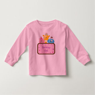 Cute Animals Birthday Girl Customizable Toddler T-shirt