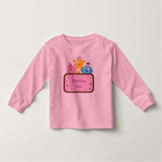 Cute Animals Birthday Girl Customizable Toddler T-shirt