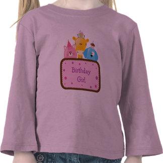 Cute Animals Birthday Girl Customizable Tee Shirts
