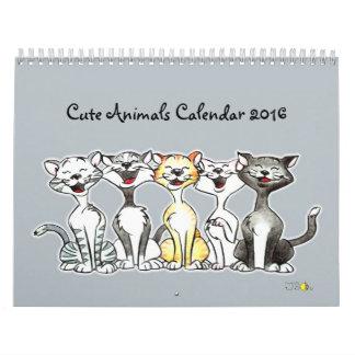 cute animals calendar 2016