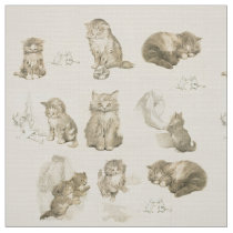 CUTE ANIMALS / CAT AND MOUSE STORIES IN PINK FABRIC