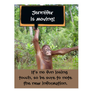 Cute Animals Change of Address Postcard