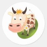 Cute animals classic round sticker