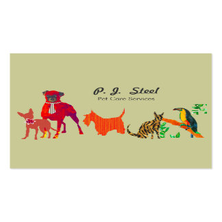 Cute Animals Dogs Cats Double-Sided Standard Business Cards (Pack Of 100)