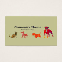 Cute Animals Dogs  Cats Pet Salon   Spa Business Card