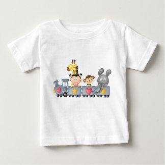 Cute Animals & Girl on Train Baby T-Shirt