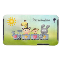 Cute Animals & Girl on Train Barely There iPod Case