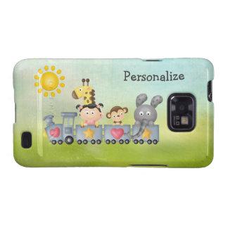 Cute Animals & Girl on Train Samsung Galaxy SII Cover