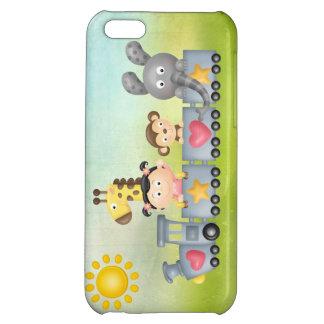 Cute Animals & Girl on Train Case For iPhone 5C