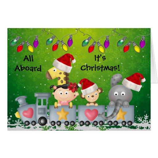 Christmas elephants cards card