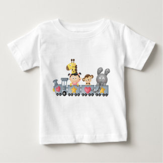 Cute Animals & Girl on Train Infant T-shirt