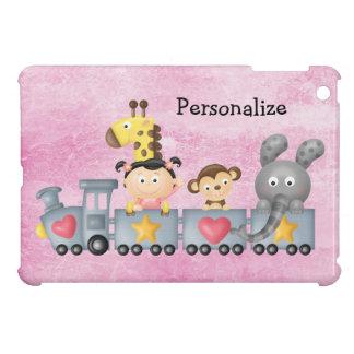 Cute Animals & Girl on Train iPad Mini Cases