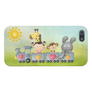 Cute Animals & Girl on Train iPhone SE/5/5s Cover