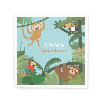 Cute Animals Jungle Theme Baby Shower Supplies Napkin