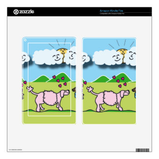 Cute Animals Kindle Fire Decal