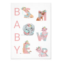*~* Cute Animals Letters Baby Shower Invitation