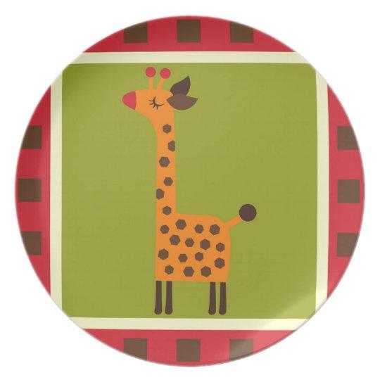 Cute Animals Melamine Plate