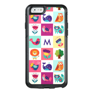 Cute Animals Monogram OtterBox iPhone 6/6s Case