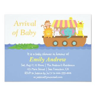 Cute Animals, Noah's Ark Baby Shower Card