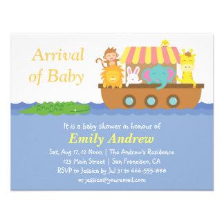 Cute Animals, Noah's Ark Baby Shower Invitation