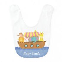 Cute Animals, Noah's Ark, for babies Baby Bib