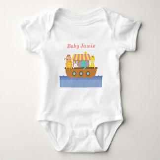 Cute Animals, Noah's Ark, for babies Baby Bodysuit