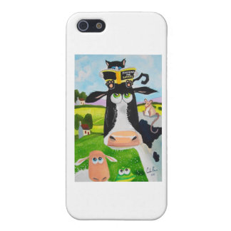 Cute animals painting Cow cat sheep frog iPhone SE/5/5s Case