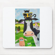 Cute animals painting Cow cat sheep frog Mouse Pad